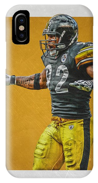 Harrison iPhone Case - James Harrison Pittsburgh Steelers Art 2 by Joe Hamilton