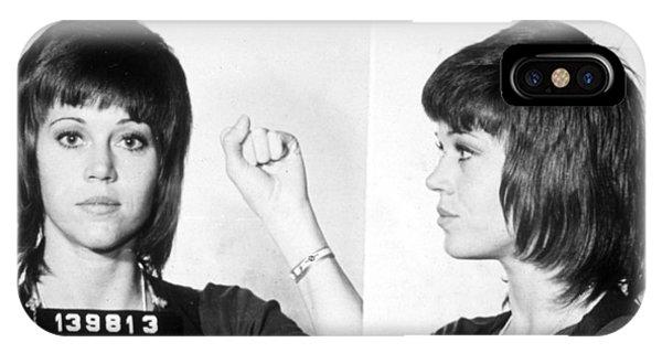 Jane Fonda Mug Shot Horizontal IPhone Case