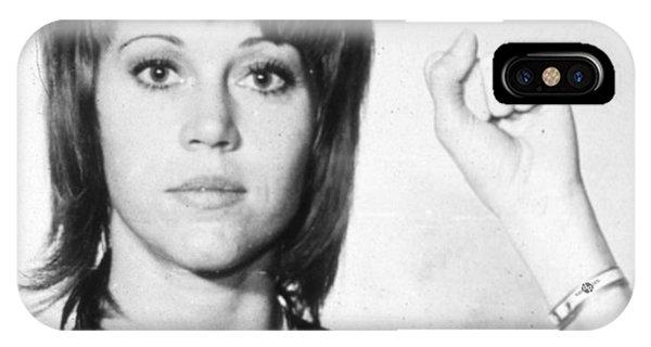 Jane Fonda Mug Shot Vertical IPhone Case