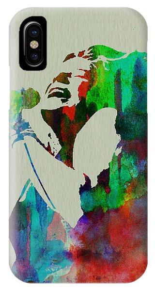 American Musician iPhone Case - Janis Joplin by Naxart Studio