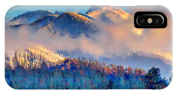 January Evening Truchas Peak IPhone Case