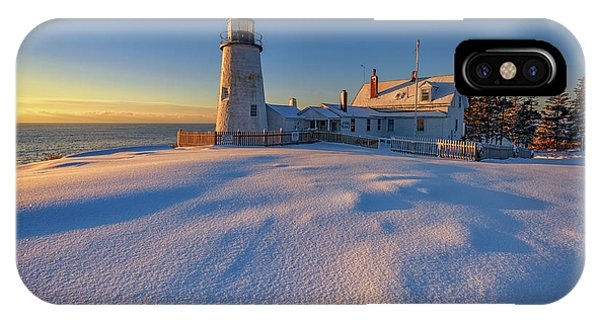 Navigation iPhone Case - January Morn At Pemaquid Point by Rick Berk