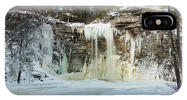 January Morning At Awosting Falls IPhone Case