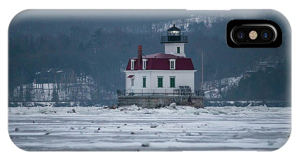 January Morning At Esopus Light IPhone Case