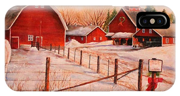 Barn Snow iPhone Case - January Thaw by Toni Grote