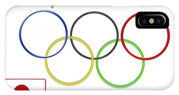 Japan Olympics 2020 Logo 3 Of 3 IPhone Case
