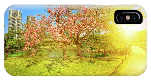 Japanese Garden Cherry Blossom IPhone Case