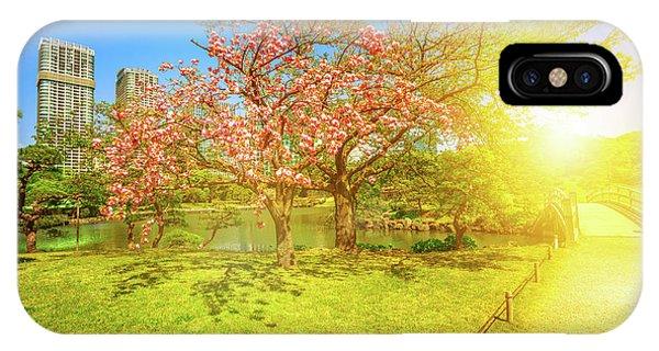 Japanese Garden Cherry Blossom IPhone Case