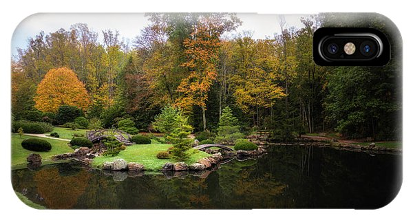 Foliage iPhone Case - Japanese Garden In Early Autumn by Tom Mc Nemar