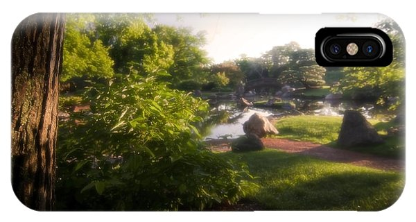 Japanese Garden In The Morning IPhone Case