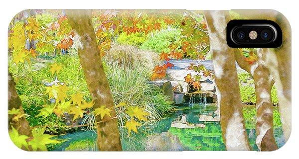 Japanese Garden Pond IPhone Case