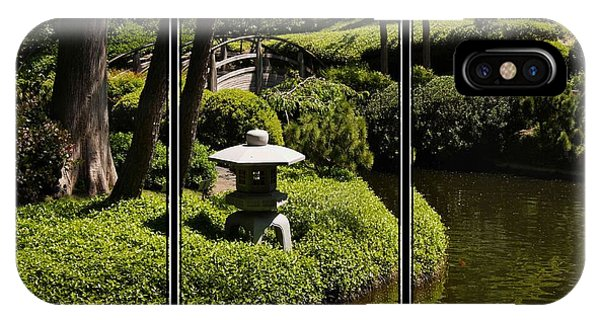 Japanese Garden Triptych IPhone Case