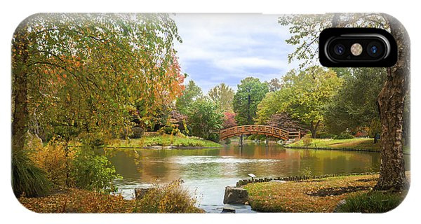 IPhone Case featuring the photograph Japanese Garden View by David Coblitz
