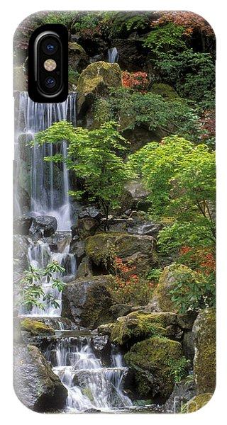 Botanical Garden iPhone Case - Japanese Garden Waterfall by Sandra Bronstein