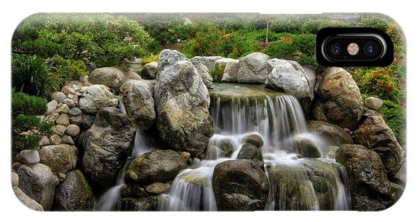 Japanese Garden Waterfalls IPhone Case