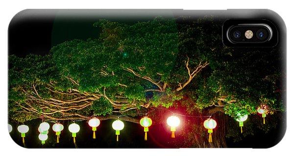 Japanese Lantern Tree IPhone Case