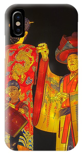 Japanese Lanterns King And His Dancers IPhone Case