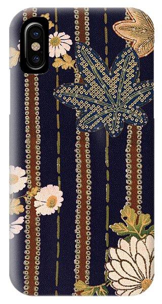 Tint iPhone Case - Japanese Maple And Chrysanthemum Modern Interior Art Painting. by ArtMarketJapan