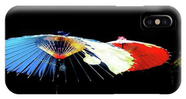Japanese Umbrellas Assorted Colors IPhone Case