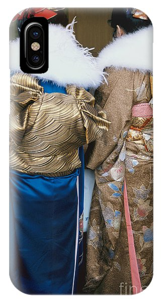 Japanese Women In Kimono Photography - Two Bijin IPhone Case