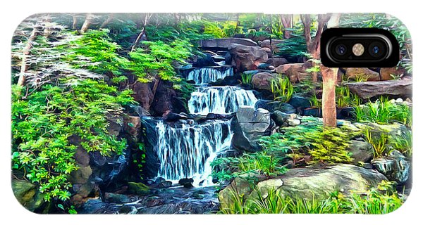 Japanese Waterfall Garden IPhone Case