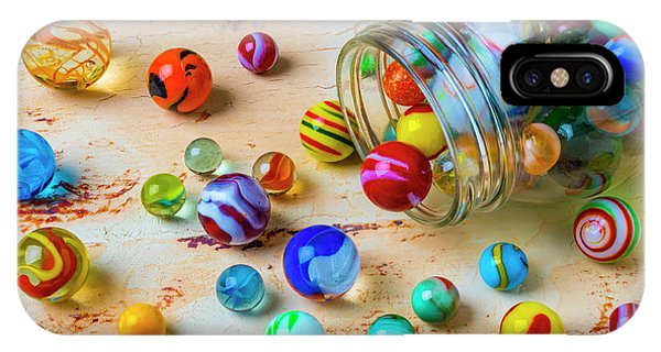 Novelty iPhone Case - Jar Of Childhood Marbles by Garry Gay