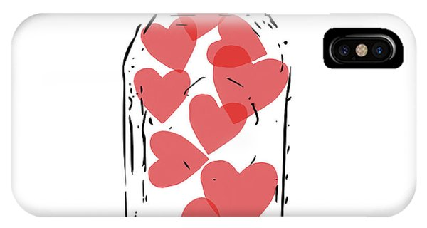 Red Heart iPhone Case - Jar Of Hearts- Art By Linda Woods by Linda Woods