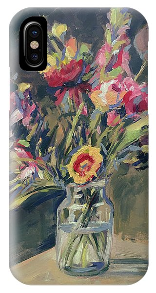 iPhone Case - Jar Vase With Flowers by Nop Briex