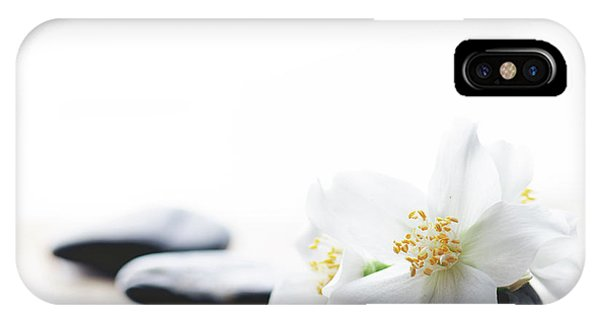 Jasmine Flower On Spa Stones IPhone Case
