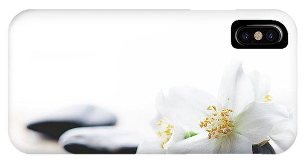 Jasmine Flower On Spa Stones IPhone Case