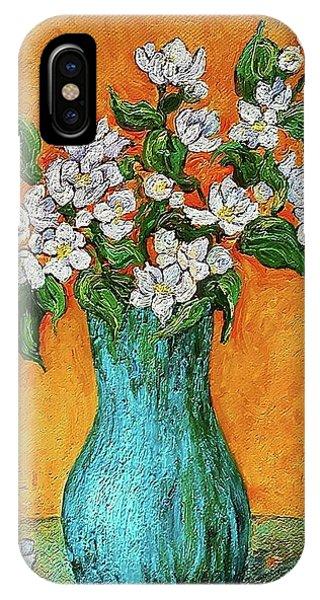 Jasmine Flowers In A Blue Pot IPhone Case