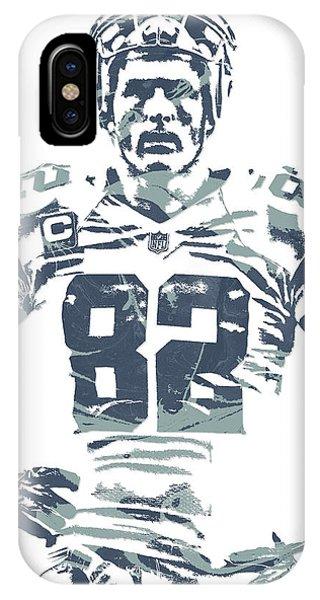 Ball iPhone Case - Jason Witten Dallas Cowboys Pixel Art by Joe Hamilton