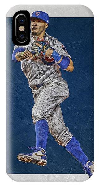 Iphone 4 iPhone Case - Javier Baez Chicago Cubs Art by Joe Hamilton