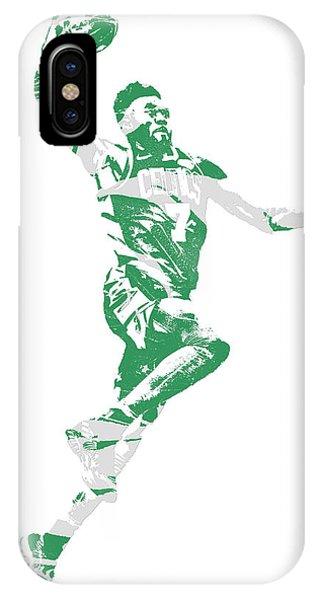 Celtics iPhone Case - Jaylen Brown Boston Celtics Pixel Art 10 by Joe Hamilton