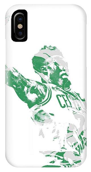 Celtics iPhone Case - Jaylen Brown Boston Celtics Pixel Art 11 by Joe Hamilton