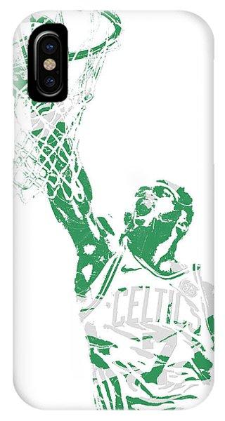 Celtics iPhone Case - Jaylen Brown Boston Celtics Pixel Art 12 by Joe Hamilton
