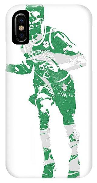 Celtics iPhone Case - Jaylen Brown Boston Celtics Pixel Art 30 by Joe Hamilton