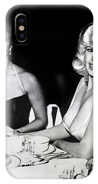 Jayne Mansfield Hollywood  Actress Sophia Loren 1957 IPhone Case