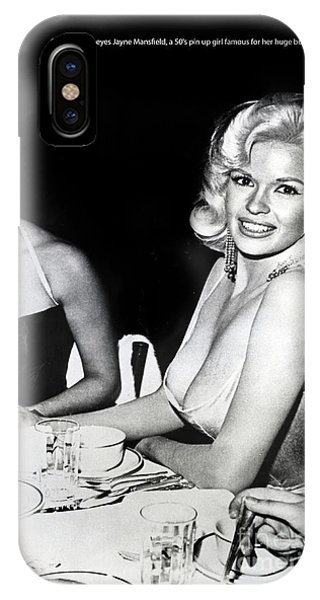 Jayne Mansfield Hollywood  Actress Sophia Loren 1957 IPhone Case