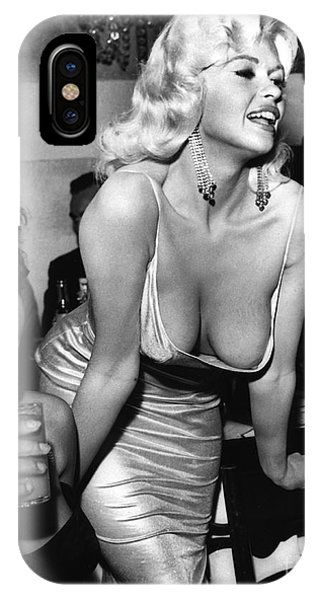 Jayne Mansfield Hollywood Actress And, Italian Actress Sophia Loren 1957 IPhone Case
