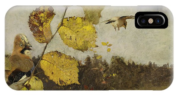 Swedish Painters iPhone Case - Jays by Bruno Liljefors