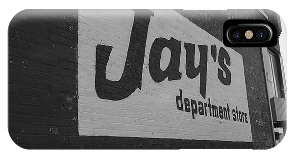 IPhone Case featuring the photograph Jay's Department Store In Bw by Doug Camara
