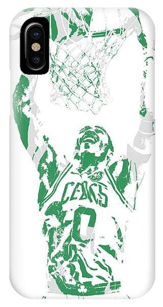 Celtics iPhone Case - Jayson Tatum Boston Celtics Pixel Art 10 by Joe Hamilton