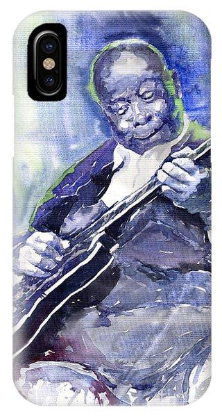 King iPhone Case - Jazz B B King 02 by Yuriy Shevchuk