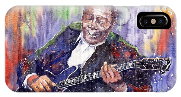 Guitar iPhone Case - Jazz B B King 06 by Yuriy Shevchuk