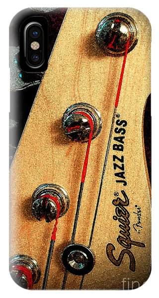 Jazz Bass Headstock IPhone Case