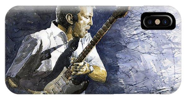 Portret iPhone Case - Jazz Eric Clapton 1 by Yuriy Shevchuk