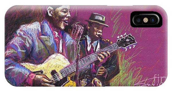 Pastel iPhone Case - Jazz Guitarist Duet by Yuriy Shevchuk