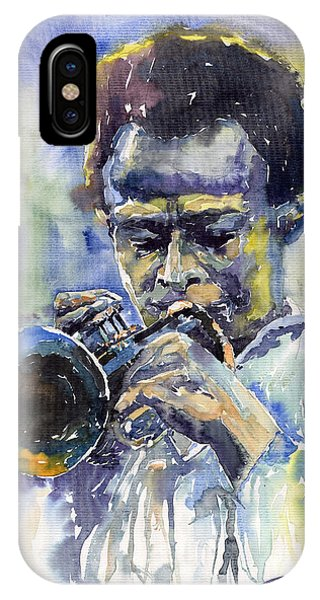 Music iPhone Case - Jazz Miles Davis 12 by Yuriy Shevchuk