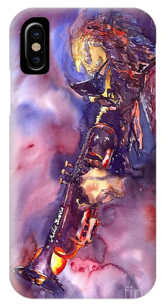 Figurative iPhone Case - Jazz Miles Davis Electric 3 by Yuriy Shevchuk